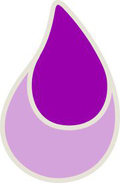 purple teardrop
