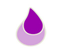 small purple teardrop